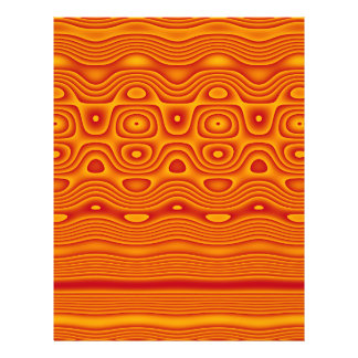 Origami Paper, Abstract Digital Tribal Art, Orange 21.5 Cm X 28 Cm Flyer