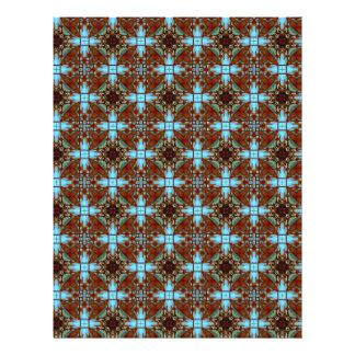 Origami Paper Blue Brown Customizable Hobby Art 21.5 Cm X 28 Cm Flyer