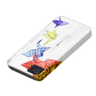 Origami Paper Cranes iPhone 4 Covers