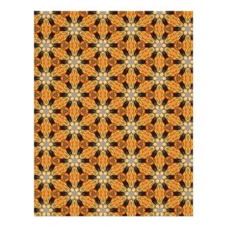 Origami Paper Orange Black Customizable Hobby Art 21.5 Cm X 28 Cm Flyer