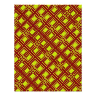 Origami Paper Red Yellow Customizable Hobby Art Personalized Flyer