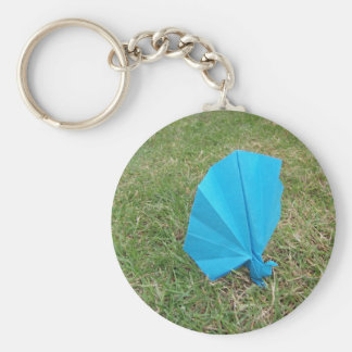 Origami Peacock Key Ring