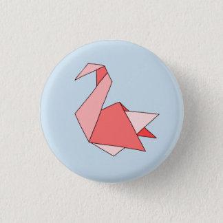 Origami Swan 3 Cm Round Badge
