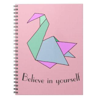 Origami Swan Notebooks