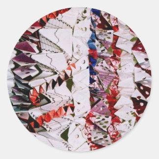 Origami Weave Round Sticker