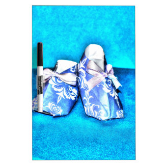 ORIGANI BLUE BABY SHOES JAPANESE PAPER ART DRY ERASE BOARD