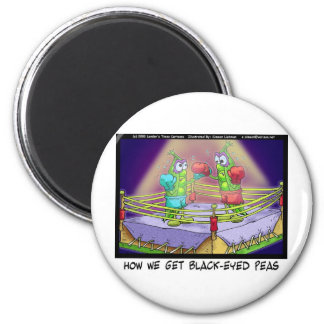 Origin Of Black Eye Peas Funny Boxing Tees/Gifts 6 Cm Round Magnet