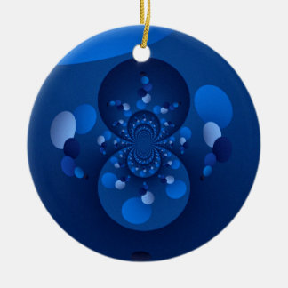 Origin of blue christmas ornament