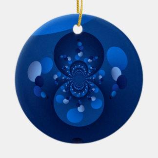 Origin of blue round ceramic decoration