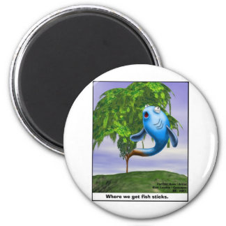 Origin OF Fishsticks Funny Tees & Gifts 6 Cm Round Magnet