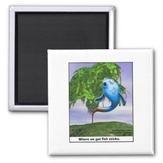 Origin OF Fishsticks Funny Tees & Gifts Square Magnet