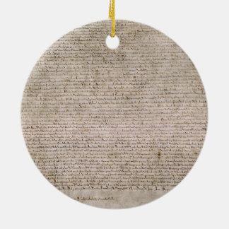 ORIGINAL 1215 Magna Carta British Library Christmas Ornament