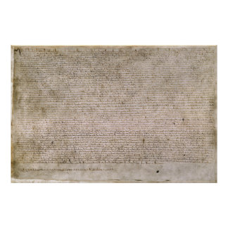ORIGINAL 1215 Magna Carta British Library Poster
