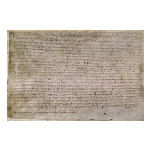 ORIGINAL 1215 Magna Carta British Library Poster