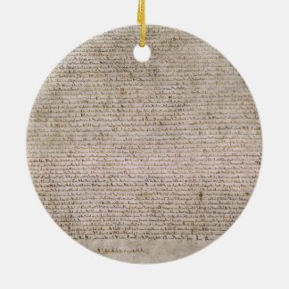 ORIGINAL 1215 Magna Carta British Library Round Ceramic Decoration