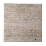 ORIGINAL 1215 Magna Carta British Library Small Square Tile