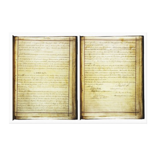 ORIGINAL 14th Amendment U.S. Constitution Canvas Print