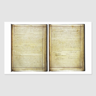 ORIGINAL 14th Amendment U.S. Constitution Rectangular Sticker