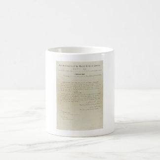 ORIGINAL 15th Amendment U.S. Constitution Basic White Mug