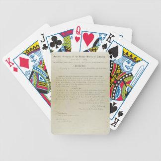 ORIGINAL 15th Amendment U S Constitution Deck Of Cards