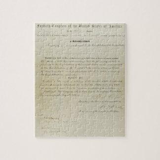 ORIGINAL 15th Amendment U S Constitution Puzzles