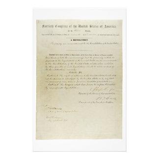 ORIGINAL 15th Amendment U.S. Constitution Stationery Design