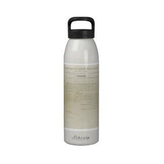 ORIGINAL 15th Amendment U S Constitution Drinking Bottle