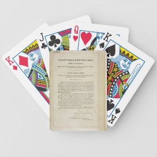 ORIGINAL 17th Amendment U S Constitution Bicycle Poker Cards