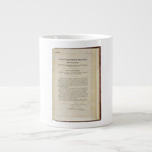 ORIGINAL 17th Amendment U.S. Constitution Jumbo Mugs