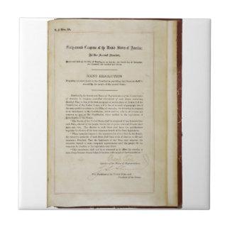 ORIGINAL 17th Amendment U.S. Constitution Ceramic Tile