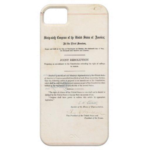 ORIGINAL 19th Amendment U.S. Constitution iPhone 5 Covers