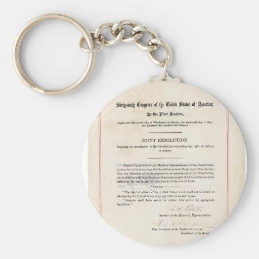 ORIGINAL 19th Amendment U.S. Constitution Key Chain