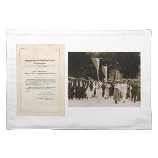ORIGINAL 19th Amendment U S Constitution Placemats