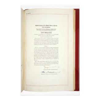 ORIGINAL 22nd Amendment U S Constitution Stationery Paper