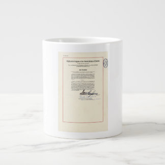 ORIGINAL 23rd Amendment U.S. Constitution Jumbo Mug