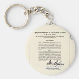 ORIGINAL 23rd Amendment U.S. Constitution Keychains