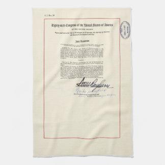 ORIGINAL 23rd Amendment U.S. Constitution Towel