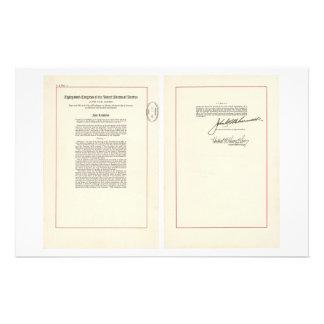 ORIGINAL 25th Amendment U S Constitution Stationery
