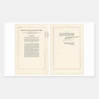 ORIGINAL 25th Amendment U.S. Constitution Rectangle Sticker