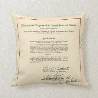 ORIGINAL 26th Amendment U.S. Constitution Cushion