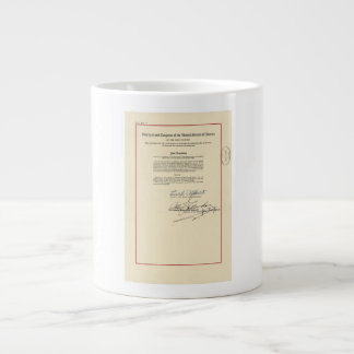 ORIGINAL 26th Amendment U.S. Constitution Jumbo Mug