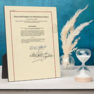 ORIGINAL 26th Amendment U.S. Constitution Photo Plaques