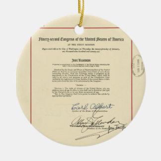 ORIGINAL 26th Amendment U.S. Constitution Round Ceramic Decoration