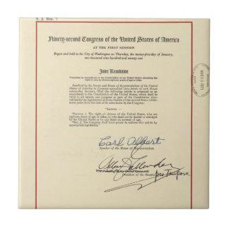 ORIGINAL 26th Amendment U S Constitution Tiles