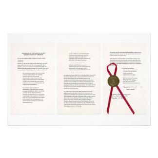ORIGINAL 27th Amendment U S Constitution Custom Stationery
