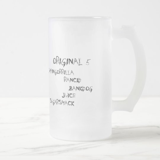 Original 5 series frosted glass beer mug