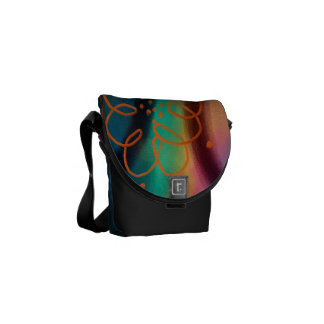 Original Abstract Art Handbag Commuter Bags