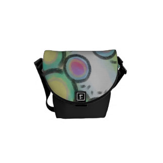 Original Abstract Art Handbag Courier Bag