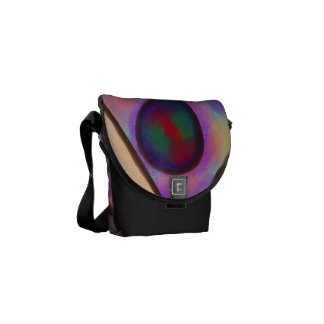 Original Abstract Art Handbag Courier Bags