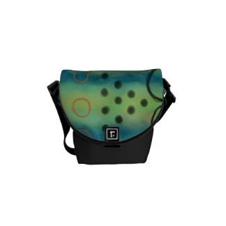 Original Abstract Art Handbag Messenger Bags